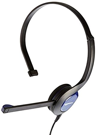 AmazonBasics Chat Headset for Xbox One, PS4 and PC - Blue