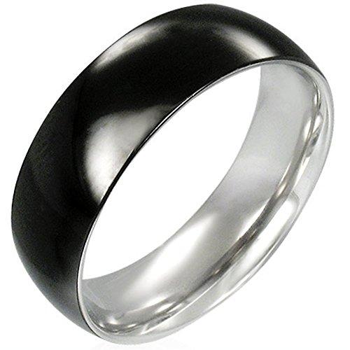 Zense-Bague-homme-en-acier-noir-brillant-Zense-ZR0027