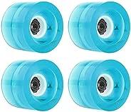 YIJU 60mm x 45mm Luminous Skateboard Wheels Outdoor Light up Cruiser Longboard Replacement Wheel Maintain Bear