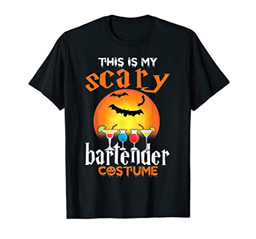 This Is My Scary Bartender Halloween Costume For Men Women T-Shirt