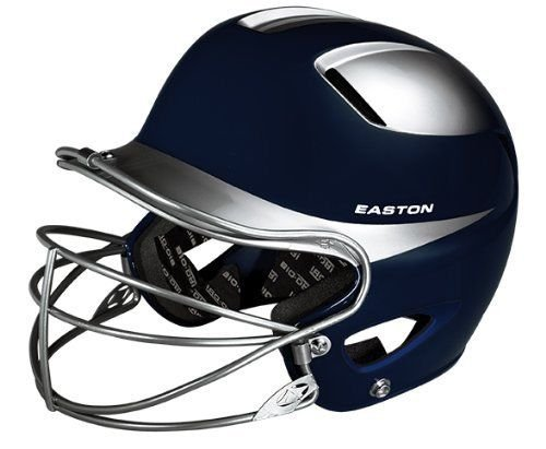 Easton Natural Two-Tone Junior Batting Helmet with Mask, (Easton Chin Strap)