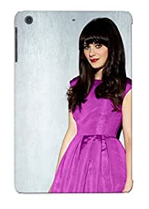 Crazinesswith Sanp On Case Cover Protector For Ipad Mini/mini 2 (zooey Deschanel) For Christmas Day's Gift