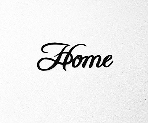 Save 6 home word fancy script metal wall art Script art