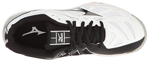 Volleyball Shoe White Black Mizuno Hurricane 3 Women's Wave qUIxnvwSn7