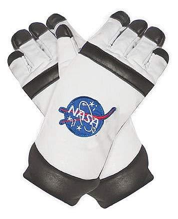 Underwraps Unisex Adult Astronaut Gloves Costume-White, One Size