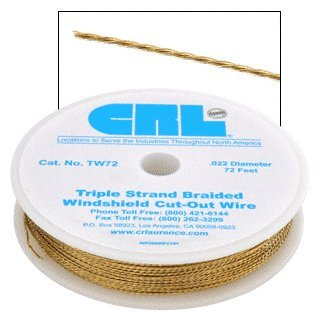 CRL Triple Strand Braided Windshield Cut-Out (Cut Out Wire)