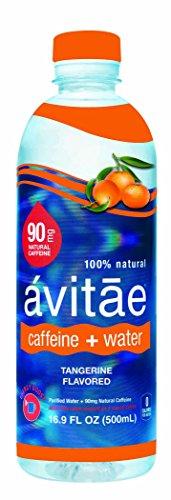 Avitae Natural Caffeine Water, Tangerine 90mg Caffeine | No-Crash Coffee & Soda Substitute | Green Coffee Bean Extract, Zero Chemicals, Zero Sugar, Zero Calories (12 Pack)