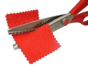 Pandoras Upholstery - Tijeras de costura para cortar en picos, color rojo