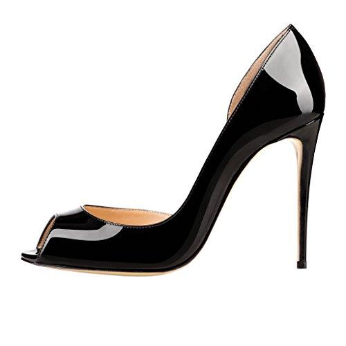 MERUMOTE - zapatos de punta abierta Mujer negro
