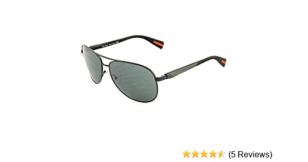 41f0608f381c Amazon.com  Prada Sport Sunglasses - PS51OS   Frame  Black Demi Shiny Lens   Grey Blue Gradient  Prada  Shoes