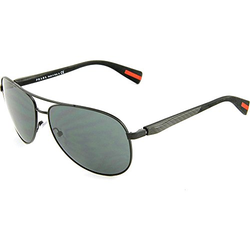 Prada Sport Sunglasses - PS51OS / Frame: Black Demi Shiny Lens: Grey Blue - Glasses 2012 Prada Frames