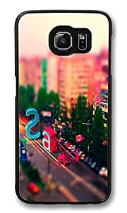 VUTTOO Rugged Samsung Galaxy S6 Case, Multicolored City Street Letters PC Plastic Hard Case Cover for Samsung Galaxy S6 PC Black