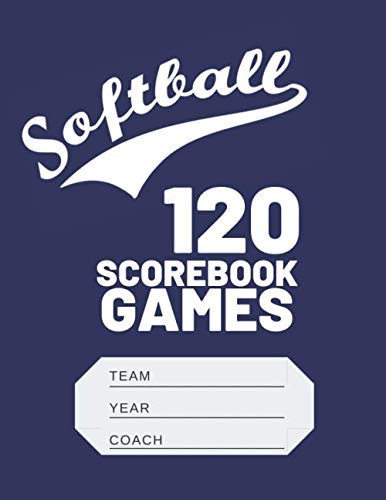 (Softball Scorebook: Softball Scorekeeper Baseball Scorebook Journal Log)