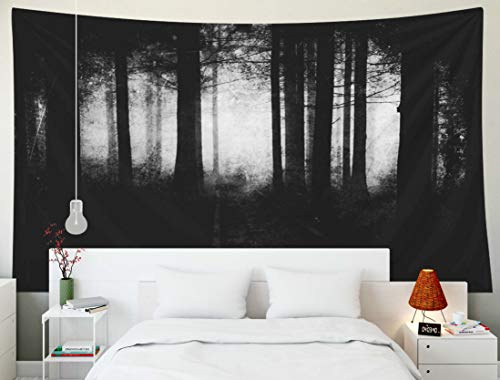 TOMWISH Tapestry Wall Hanging, Tapestries Decoration Hanging Wall Bedroom and Home Décor Dorm Scary Forest Wallpaper Spooky Halloween Background 80x60 Inch -