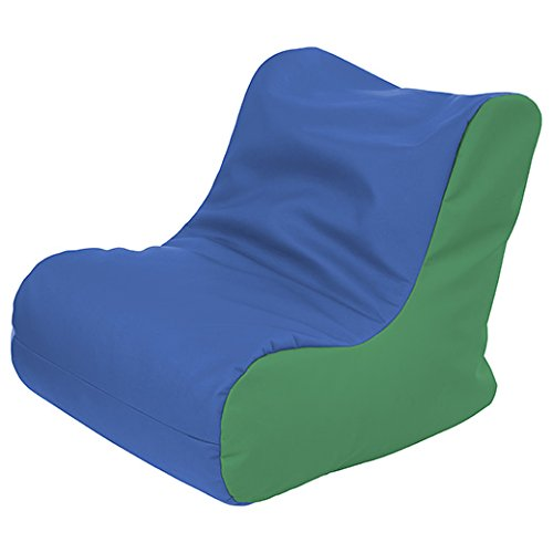 ECR4Kids SoftZone Youth Bean Bag Soft Seat, Blue and Green by ECR4Kids
