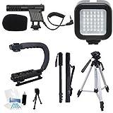 Beginner Microphone Filmmaker Starter Kit for Canon PowerShot SX710, SX700, SX530, SX520, SX510, SX410, SX400, SX170, SX60, SX50 Point & Shoot Cameras
