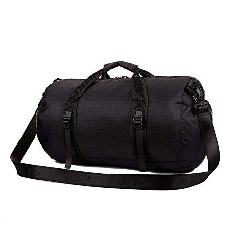 Multi Functional Sports Gym Bag-Foldable Travel Duffel Gym Bags for Man Women (Black)