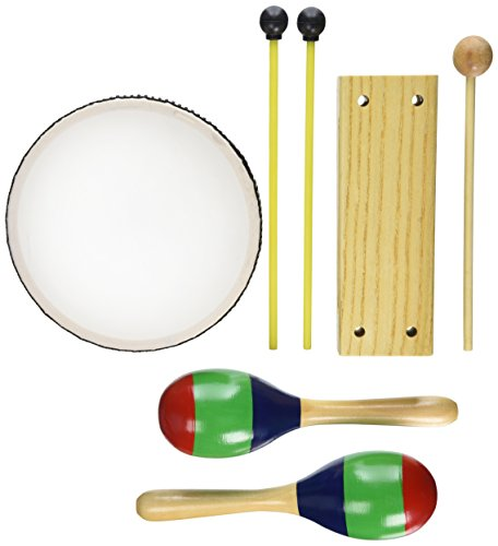 Alfred's Kid's Drum Course, Complete Starter Pack (Drum, Maracas, Woodblock, Mallets, Lesson Book, Audio CD) (Lesson Percussion)