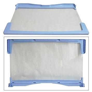 Indesit - Bandeja de cristal con borde para frigorífico Indesit: Amazon.es: Hogar