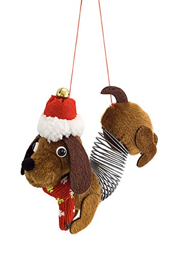 Melrose International Slinky Dog Hound Natural Brown 6 inch Fabric Christmas Figurine Ornament