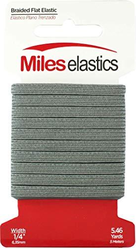 - Miles Elastic Braided Flat Elastic 1/4