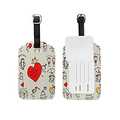 Saobao Travel Luggage Tag Skull And Rose PU Leather Baggage Travel ID