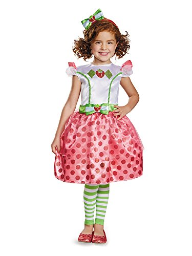 Classic Strawberry Shortcake Iconix Costume, X-Small/3T-4T - Strawberry Shortcake And Friends Costumes