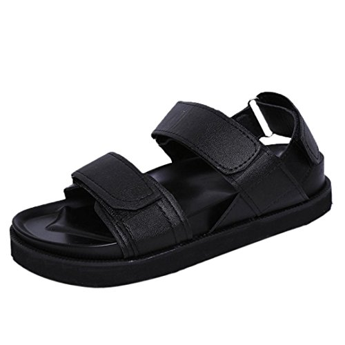 Ladies verano sandalias mujer zapatos negro informal planas gladiador Transer cómodos IdwPI