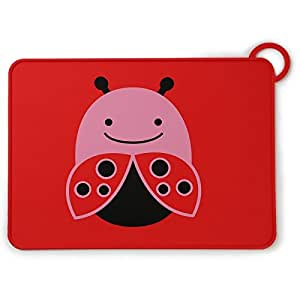 Skip Hop Zoo Fold and Go Silicone Kids Placemat, Livie Ladybug