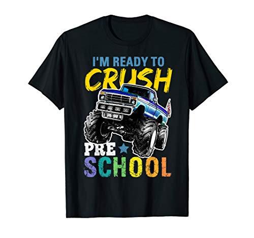 Preschool Monster Truck First Day of School Shirt Boys Gift