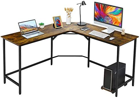 VANSPACE Modern L Shaped Desk 59'' Corner Computer Desk