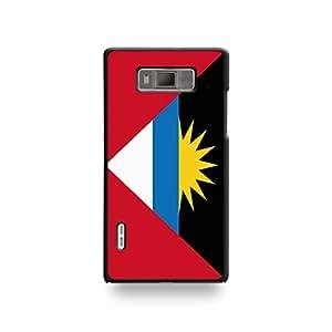 LD coqlgl7_8 funda con tapa para LG Optimus L7-Antigua y de la bandera de carcasa rígida