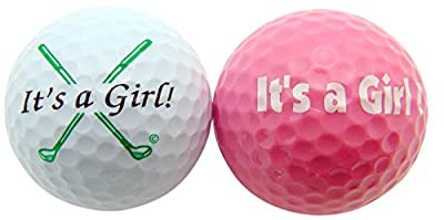 Its a Girl Novelty Golf Ball Gift Pack Set of 2
