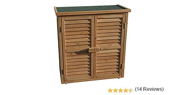 Gabinete de almacenamiento de madera al aire libre o cuarto de ...