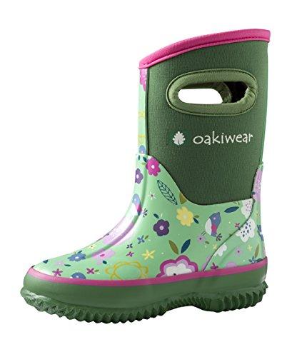 Kerrian Online Fashions 413DrHXPrdL OAKI Kid's Neoprene Rain Boots, Snow Boots, Muck Boots
