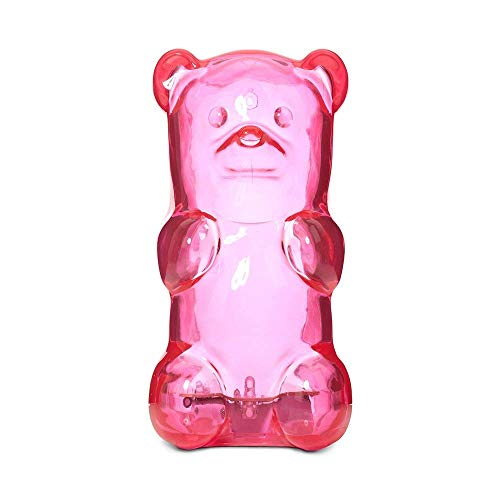 (Gummygoods Squeezable Gummy Bear Night Light, Portable with 60 Minute Sleep Timer, Pink)