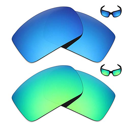 (Mryok 2 Pair Polarized Replacement Lenses for Oakley Oil Drum Sunglass - Options)