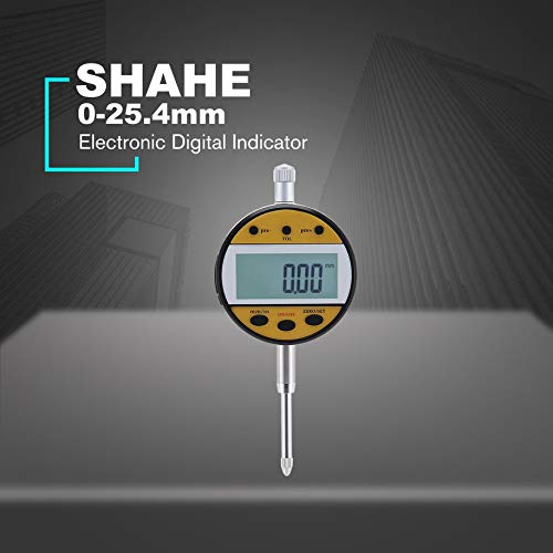 Digital Indicator, SHAHE 0.001mm Digital Outside Micrometer 0-25mm/25-50mm/50-75mm/75-100mm Electronic Measuring Tool With Engraved Line
