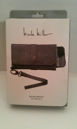 Nicole Miller Buckle Wristlet Case for iPhone5 (Silver Reptile)