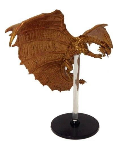D&D Tyranny of Dragons Single Figure Uncommon Copper Dragon #32