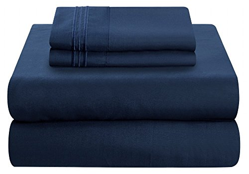 Mezzati Luxury Bed linen Set - tender and snug 1800 Prestige collection - cleaned Microfiber Bedding (Blue, Twin XL Size)
