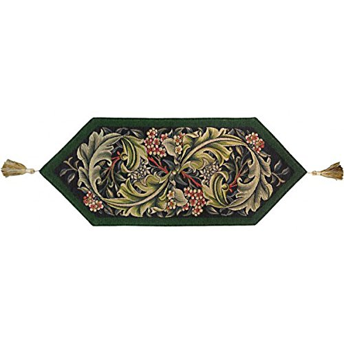 William Morris Green French Tapestry Table Runner by Charlotte Home Furnishings