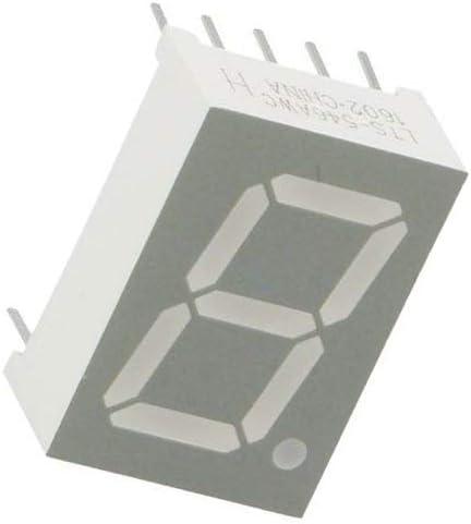 2x LTS-546AWC Display LED 7-segment 13.2mm red 0.8mcd anode No.char1 LITEON