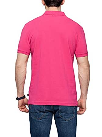 Lc Waikiki Pink Cotton Shirt Neck Polo For Men