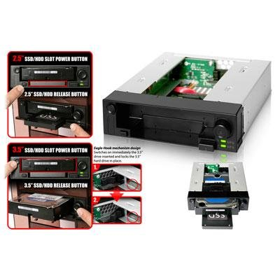 Icy dock - mb971sp-b - duoswap 2.5 3.5 sata drive cad by ICY DOCK