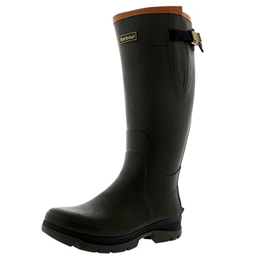 Mens Barbour Tempest Winter Rubber Wellington Waterproof Snow Rain Boots Olive b14f3