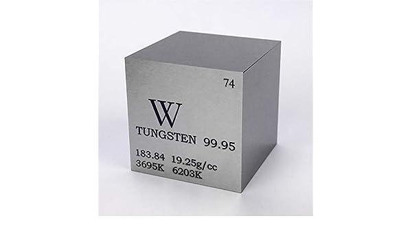1 (25,4 mm tungsteno METAL cubo 315 G 99,95% grabado tabla periódica W muestra: Amazon.es: Industria, empresas y ciencia