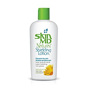 Skin MD Natural Shielding Lotion Absolutely Non-Greasy, Fragrance Free Gel Like for Face & Body, Hydrates 6 Times More than Regular Moisturizers, No More Irritation, Redness & Itching - 8oz-236 ml