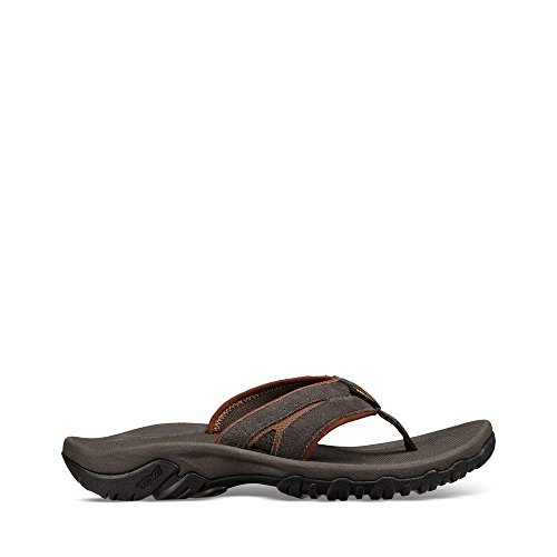 Leather Flops Flip Teva (Teva Mens Men's M Katavi 2 Thong Sport Sandal, Black Olive, 11 M US)