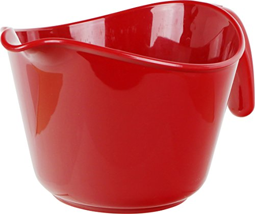 Calypso Basics by Reston Lloyd 2-Quart Microwave Safe Batter Bowl, Red